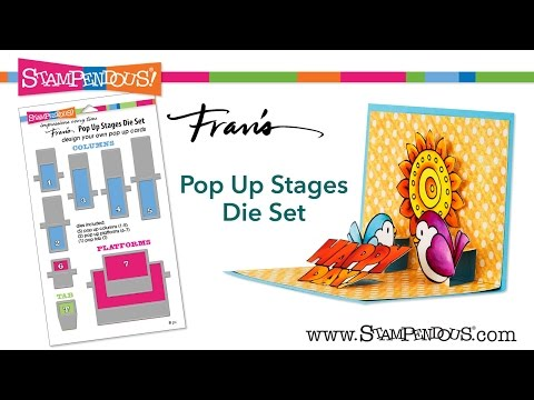 Make Your Own Pop Ups Stampendous Fran/'s Pop Up StagesCutting Dies