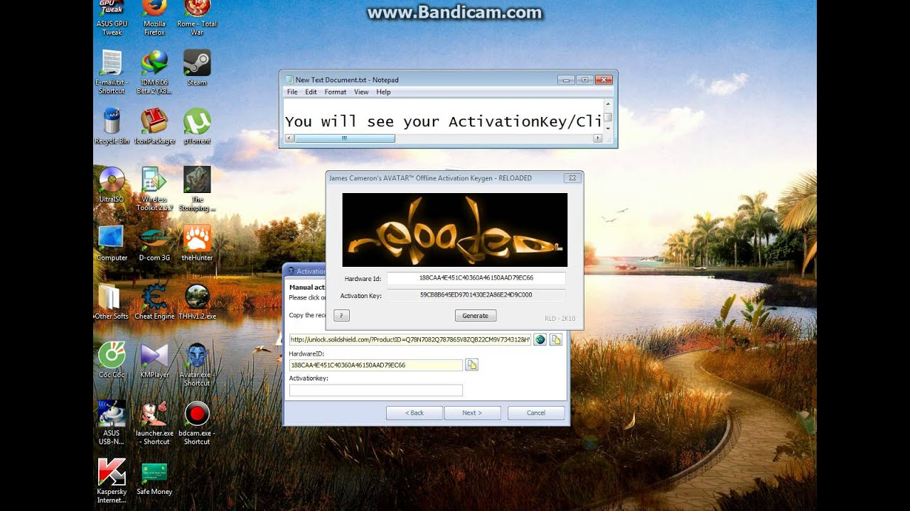How To Get Activation Key Game Avatar Pc Youtube