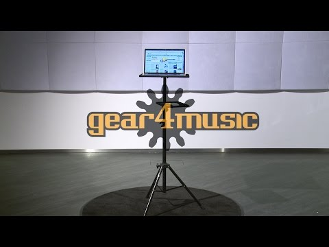 Adjustable Laptop Stand with Mouse Shelf by Gear4music