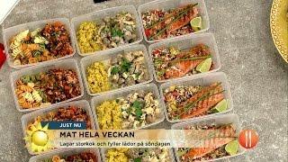 Två timmars lagning - mat för fem dagar - Nyhetsmorgon (TV4)