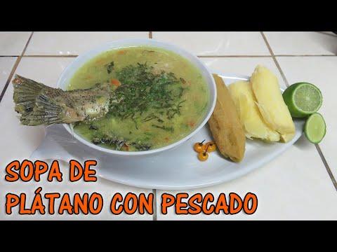 Sopa de Plátano con Pescado | Cocinando con Marilin