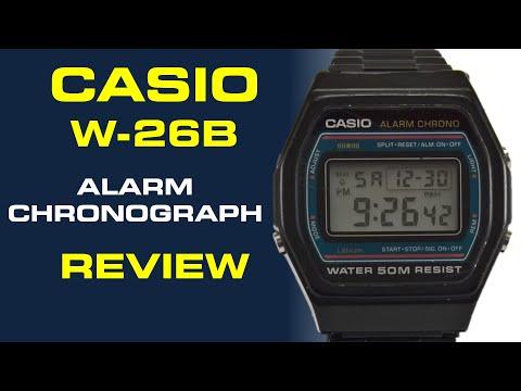 Casio Alarm Chronograph W-26B Review