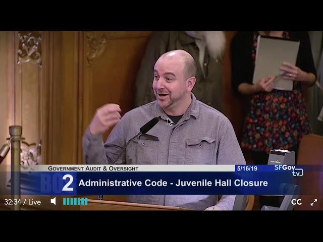 Juvenile Hall Closure Public Comments Joel 5-16-19