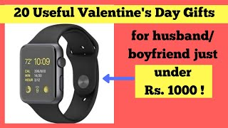 20 Useful Valentine's Day Gifts For Boyfriend / Husband Under Rs. 1000 | Available On Amazon India