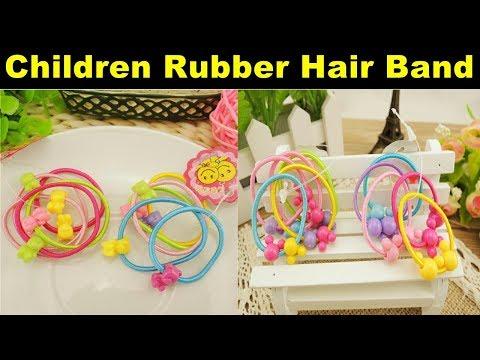 High Quality Carton Round Ball Kids Elastic Hair bands Elastic Hair Tie Children Rubber Hair Band