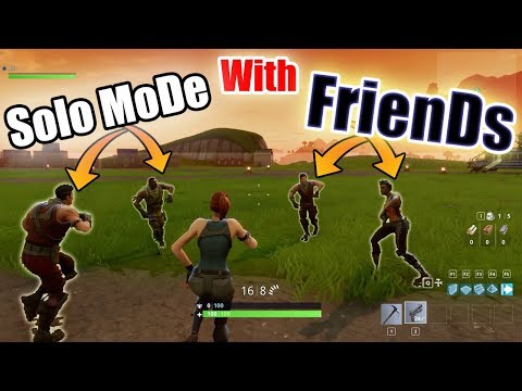 How to Play SOLO Mode with FRIENDS in Fortnite | Solo with Friends Fortnight - LB 😂