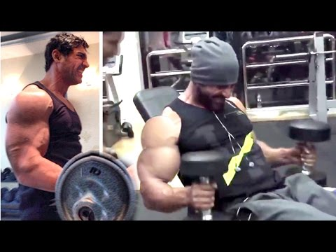 All John Abraham's Intense Gym Bodybuilding Workout Videos