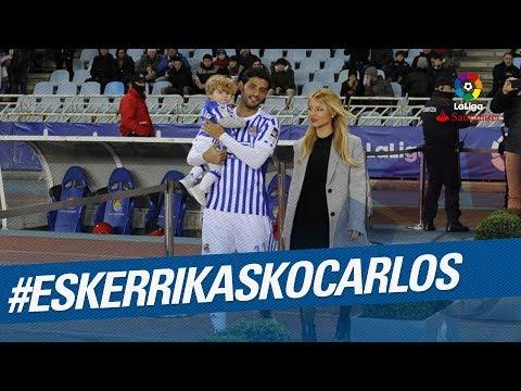 #EskerrikaskoCarlos, la Real Sociedad dice adiós a Carlos Vela