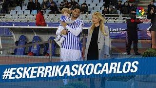 EskerrikaskoCarlos la Real Sociedad dice adis a Carlos Vela