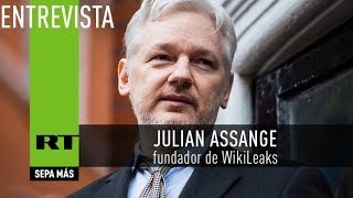 """""""Siento pena por Hillary Clinton"""" , dice Assange en entrevista exclusiva"""