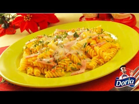 Tornillos integrales Doria con pavo tentación y salsa de peras