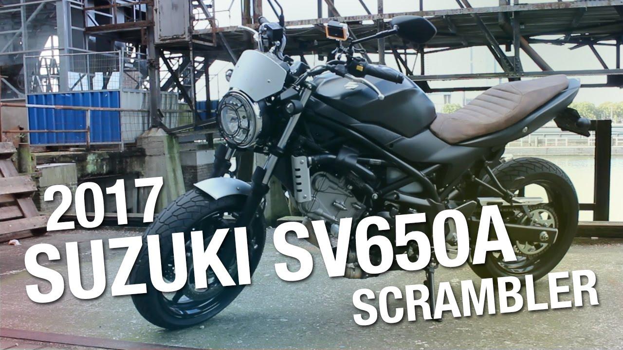 Test/Review: 2017 Suzuki SV650 ABS Scrambler - YouTube