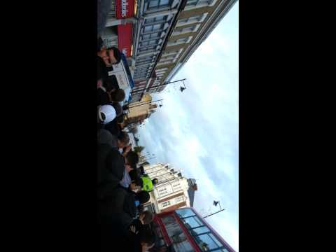 West Ham fans escort tottenham away seven sisters road