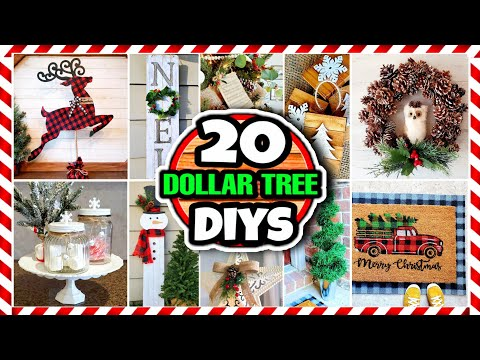 20 Dollar Tree DIY Christmas Decorations & Ideas For 2020 🎄