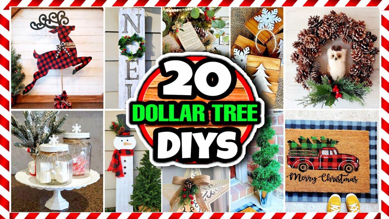 20 Dollar Tree DIY Christmas Decorations & Ideas for 2020 🎄   YouTube