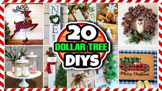 20 Dollar Tree DIY Christmas Decorations & Ideas for 2020 🎄