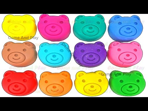 Thumbnail: Learn Colors Play Doh Teddy Bear Disney Pixar Cars Paw Patrol Peppa Pig ELMO Mickey Surprise Toys