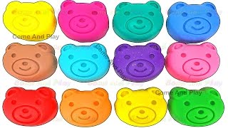 Learn Colors with Play Doh Teddy Bear and Surprise Toys