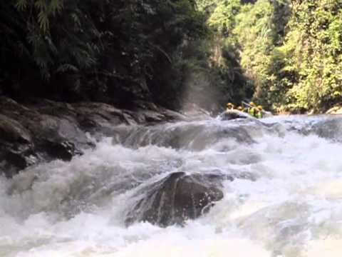 Double-Decker Rapids at Kampar River, Gopeng, Perak, Malaysia