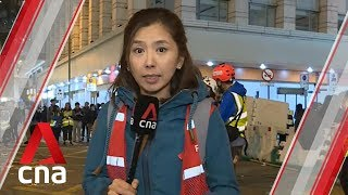 Hong Kong protests: Huge crowds rally into the night