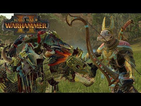 Horned Ones Vs Necrosphinx - Lizardmen Vs Tomb Kings // Total War: Warhammer II Online Battle