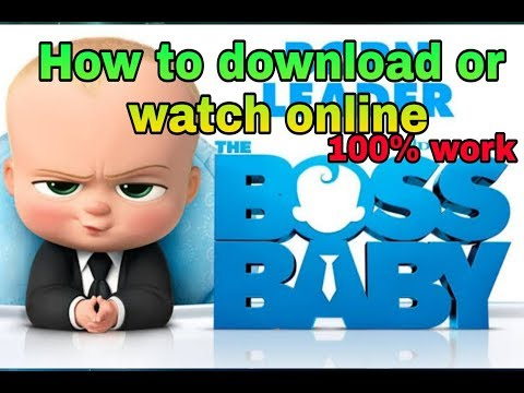 How To Download Or Watch Online HD The Boss Baby Full Movie | 100% Work