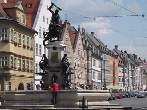 augsburg germany a historic city in bavaria youtube. Black Bedroom Furniture Sets. Home Design Ideas