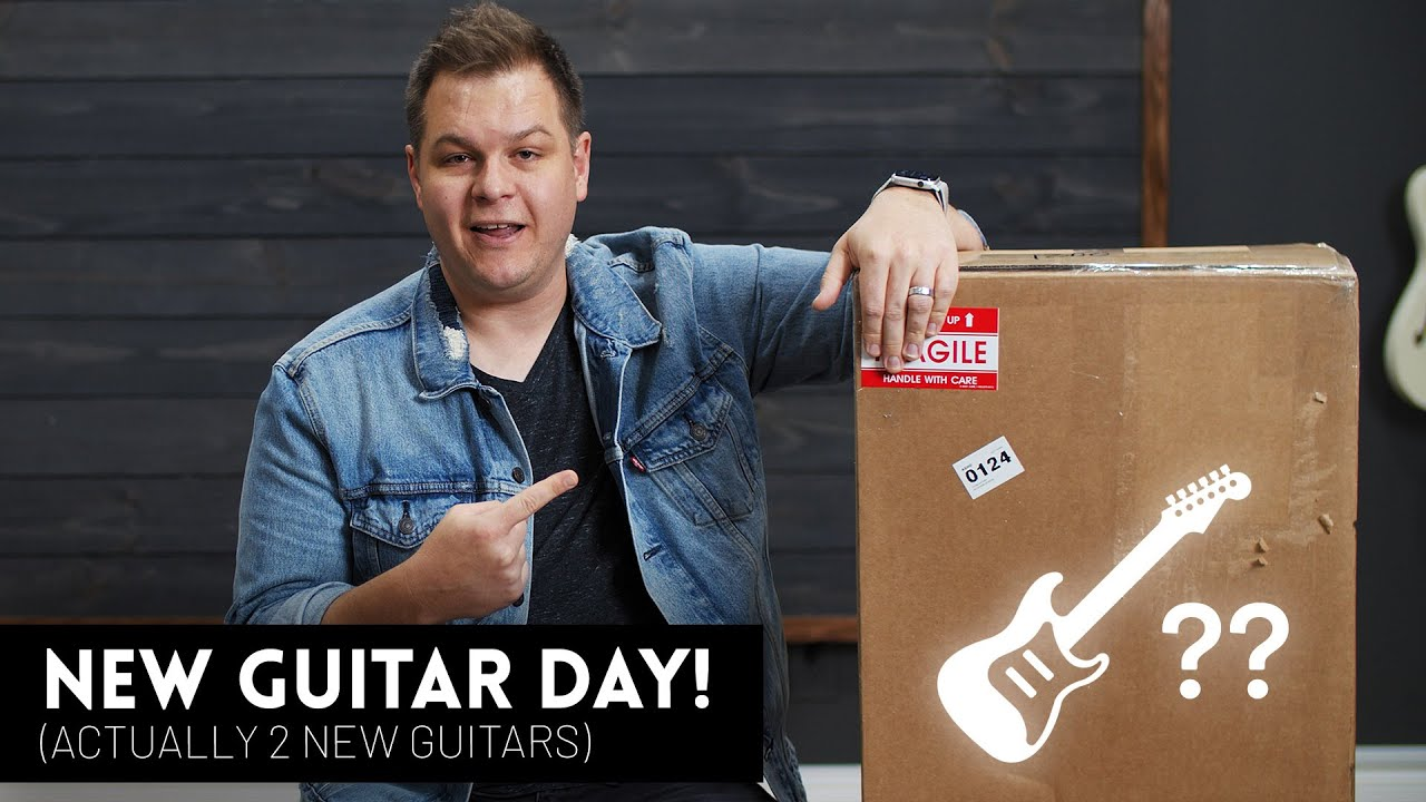 New Guitar Day! Unboxing two new guitars
