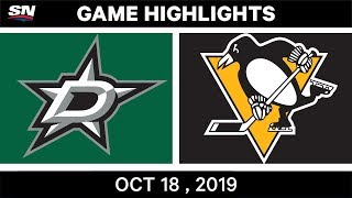 NHL Highlights | Stars vs. Penguins - Oct. 18, 2019