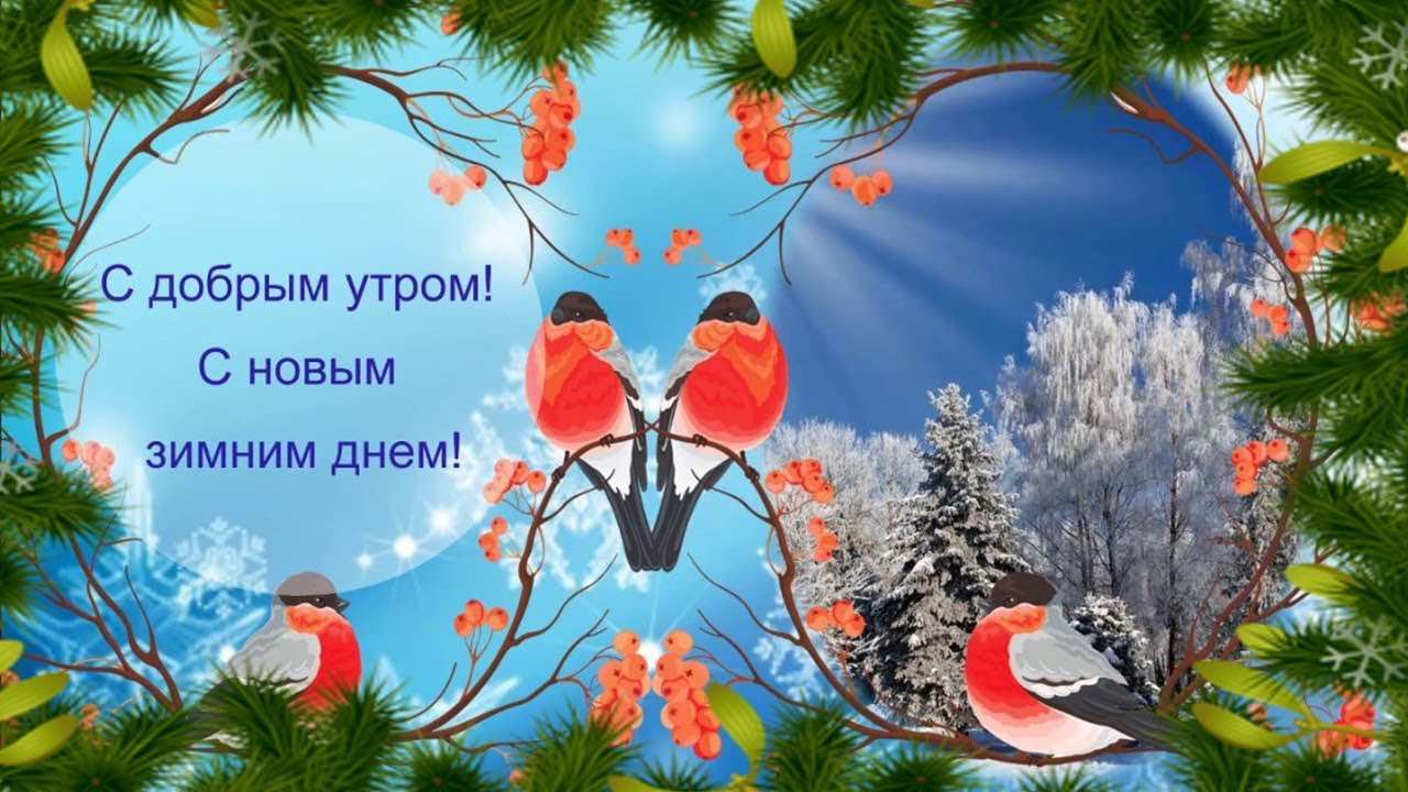 Вставить, добрые открытки с добрым утром зимние
