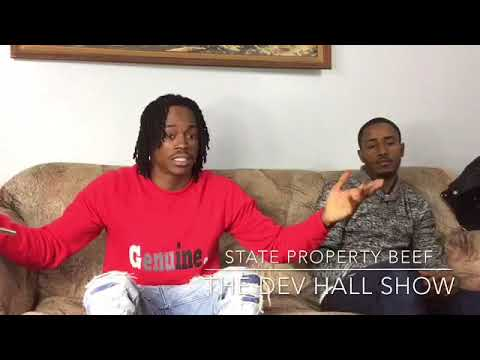 State property members beefing in the city. OSCHINO AND NEEF BUCK Exchange words via songs