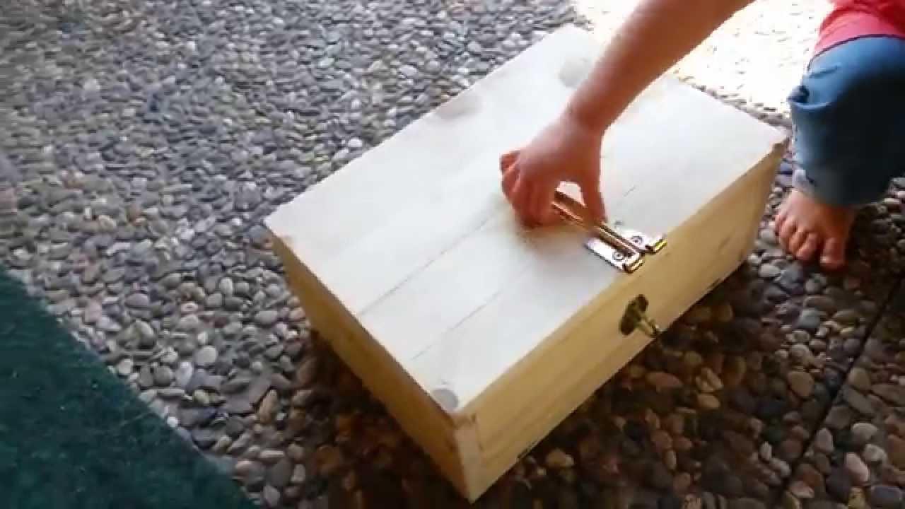 einfache holz schatzkiste - youtube