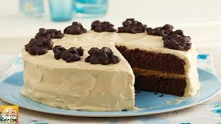 Chocolate Cluster Peanut Butter Cake