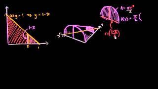 Secciones transversales semicirculares con base triangular
