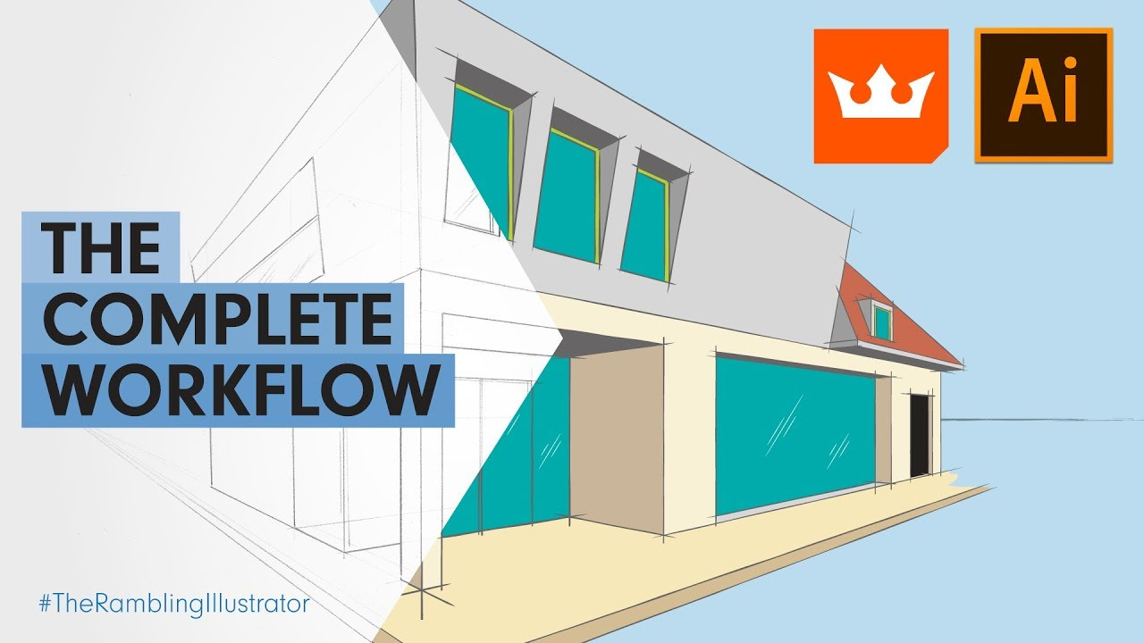 Adobe Illustrator + Astute Graphics complete vector illustration workflow