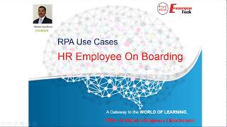 Rpa use case - hr employee on boarding industry – human resource problem statement one of the leading us based mnc has 500 ne...
