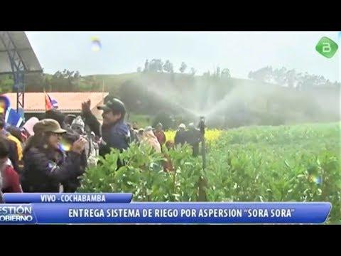 Provincia Chapare Evo Entrega Sistema de Riego Por Aspersión, Noticias Bolivia