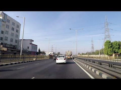 Driving on Jaipur-Kishangarh Expressway - Rajasthan, India