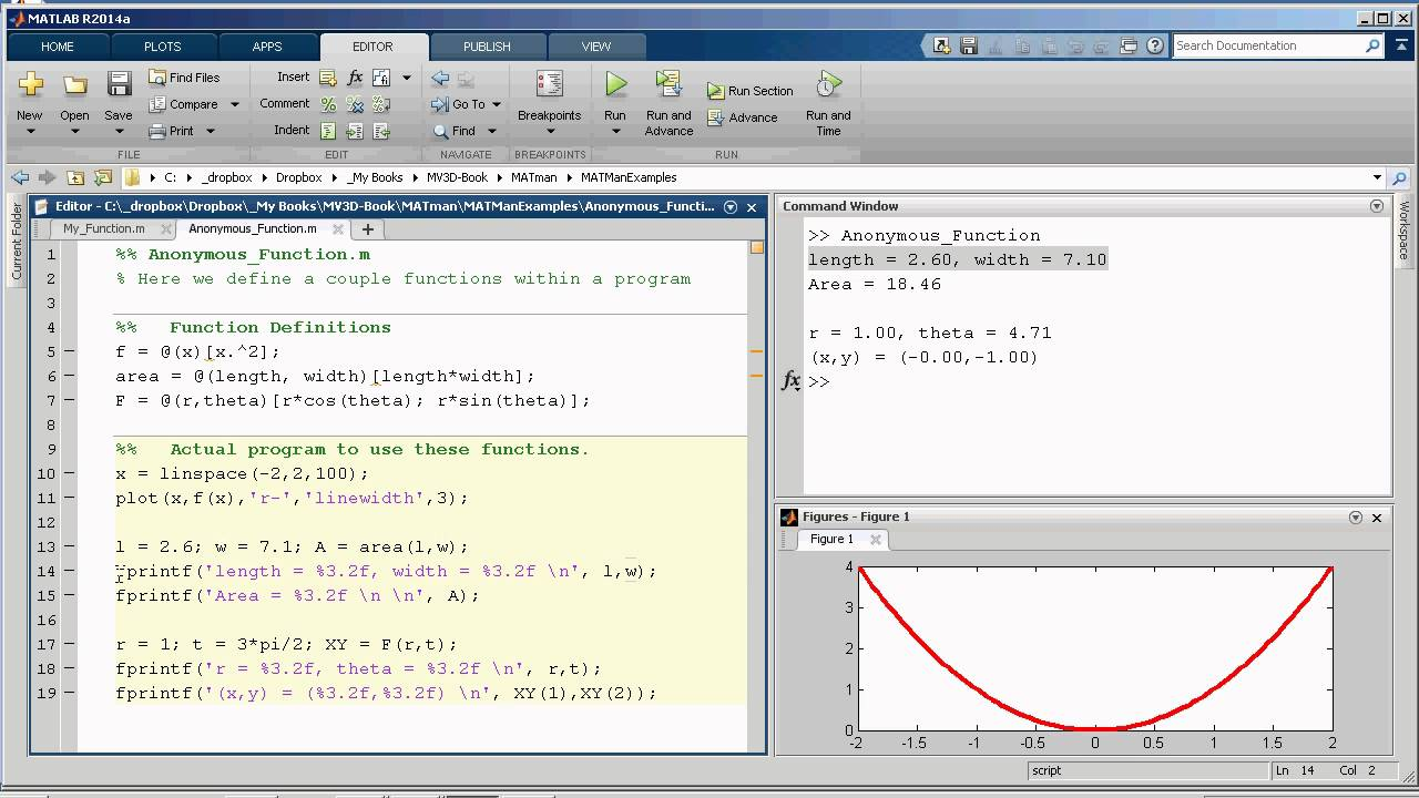 MATLAB Lesson 4 - Functions