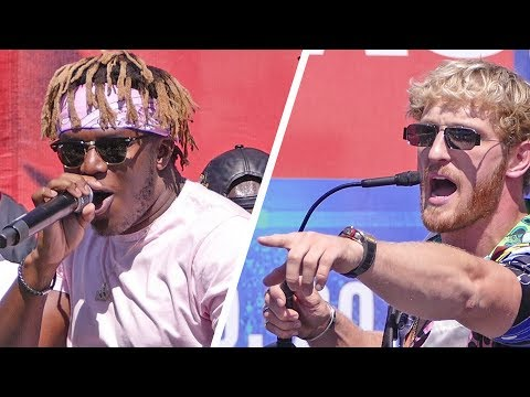 Chaos!  KSI vs. LOGAN PAUL 2 - Full Press Conference | Los Angeles
