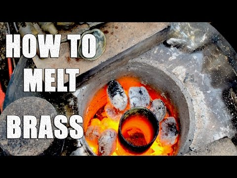 Melting Brass with Home Made Metal Foundry