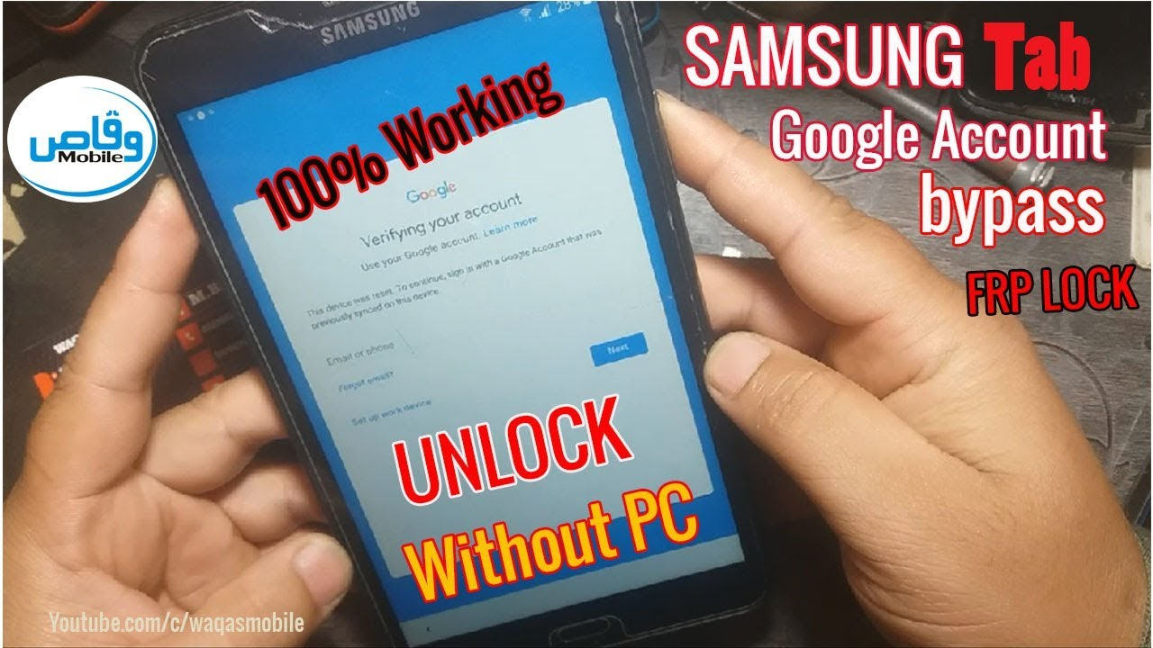 Samsung Galaxy Tab A6 Frp bypass Without Pc | samsung google account  verification