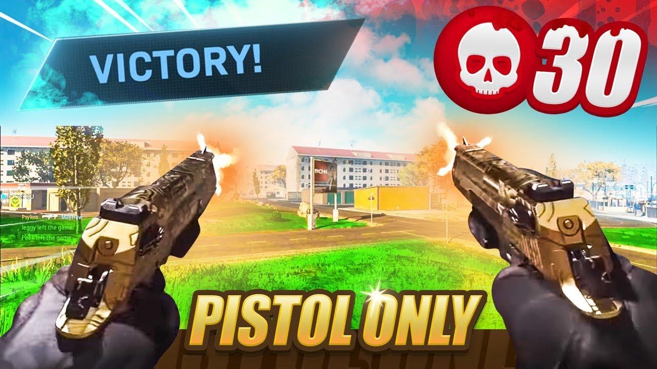 30 KILL PISTOL ONLY WARZONE WIN! (Challenge)