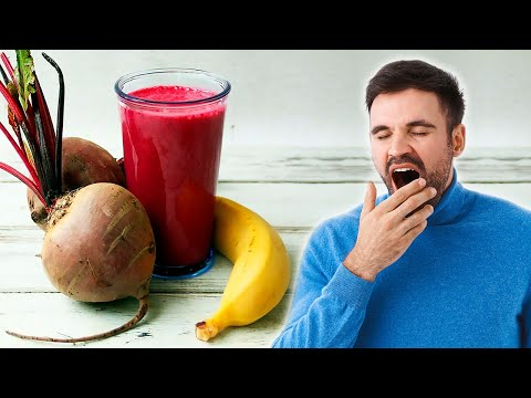 Banana and Beet Smoothie to Treat Fatigue, Tiredness and Anemia Naturally