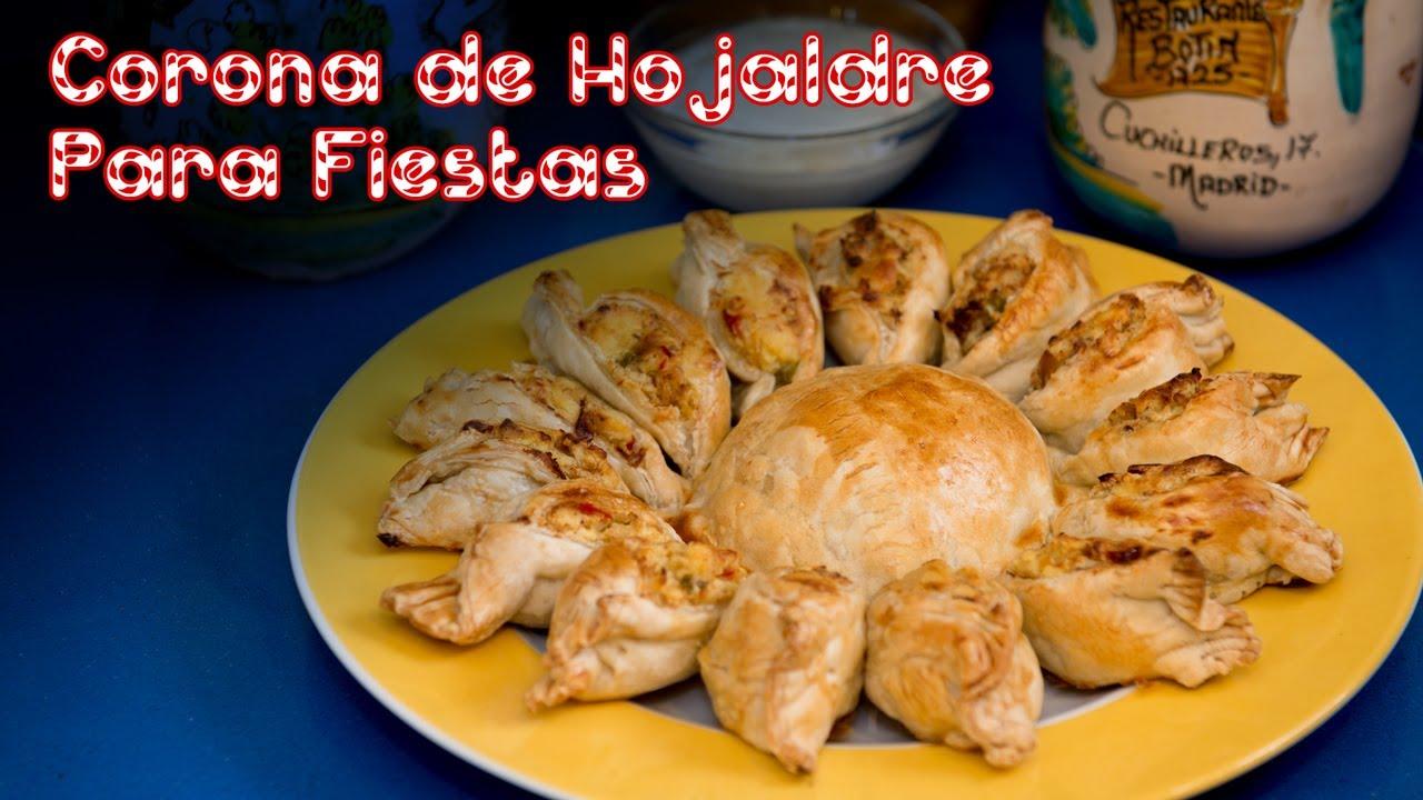Corona de Hojaldre de Patatas con Jamon y Bacon Para Fiestas
