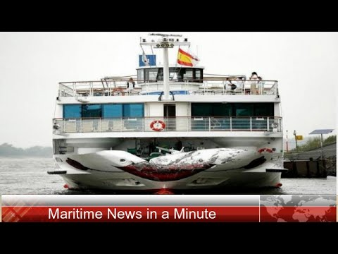 Cruise Ship Collides With Barge On The Rhine