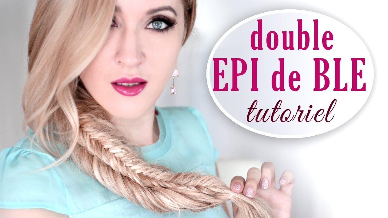 Tresse pi de bl empil e double tuto coiffure cheveux longs youtube - Tresse epis de ble ...