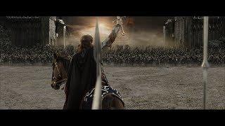 Арагорн вызывает на бой армию Мордора. HD
