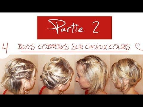 Souvent ➳ 4 idées coiffures sur cheveux courts | Partie 2 | L.A Hairstyle  BI89