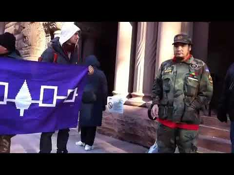 Solidarity for Arrested Native Activist Davyn Calfchild at City Hall Toronto